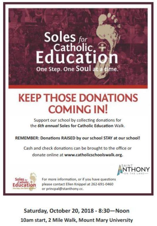 Soles for Education Walk October 20, 2018