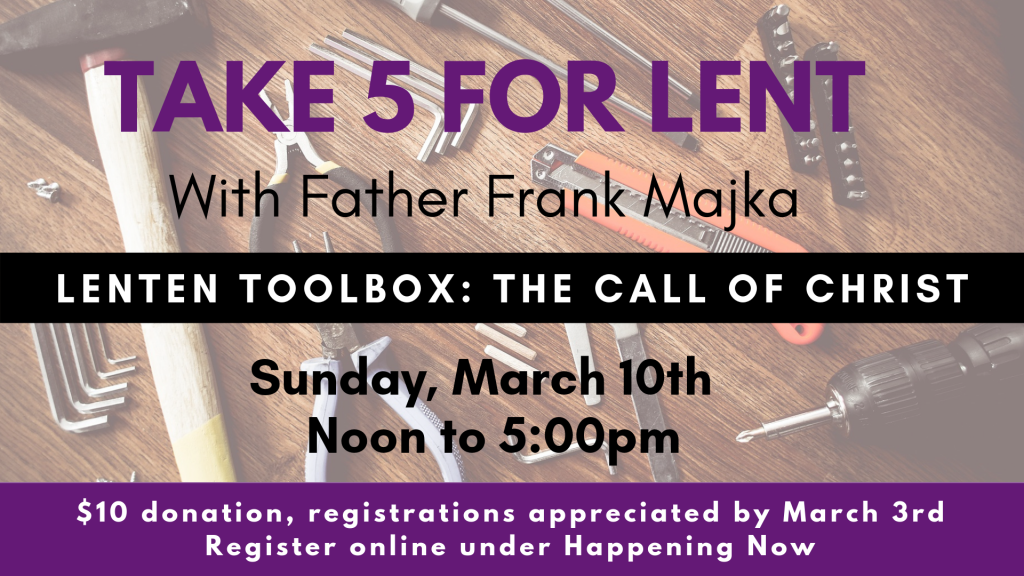 Take 5 for Lent at St. Anthony on the Lake