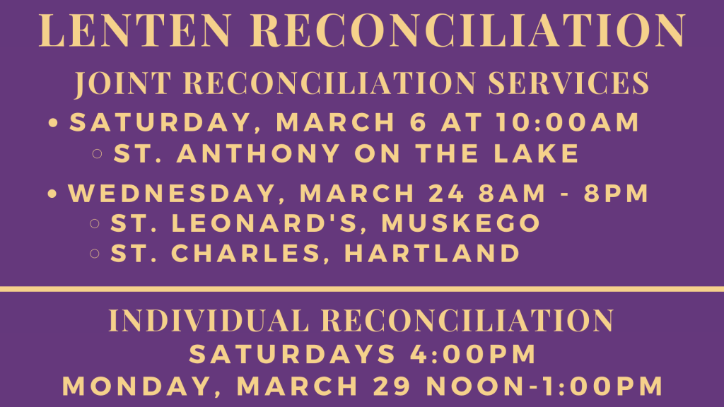 Lenten Reconciliation at St. Anthony on the Lake