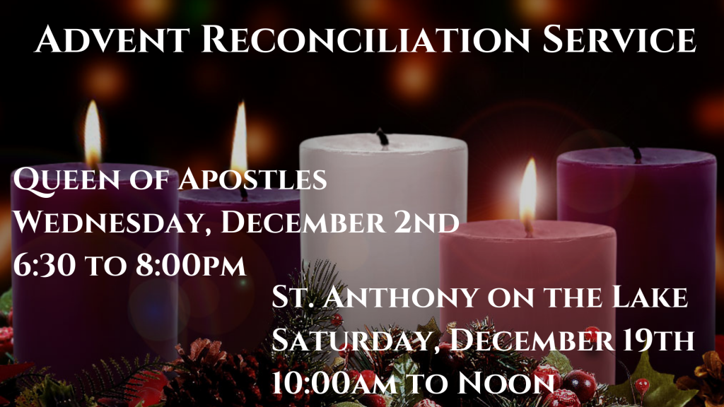 St. Anthony on the Lake Advent Reconciliation