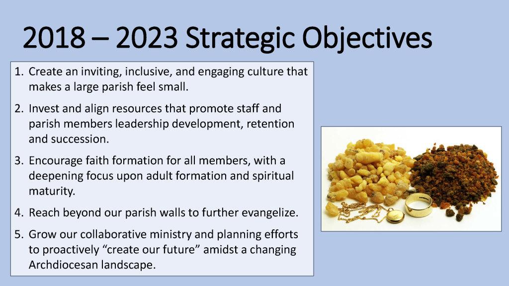 2018-2023 Strategic Objectives - St. Anthony on the Lake