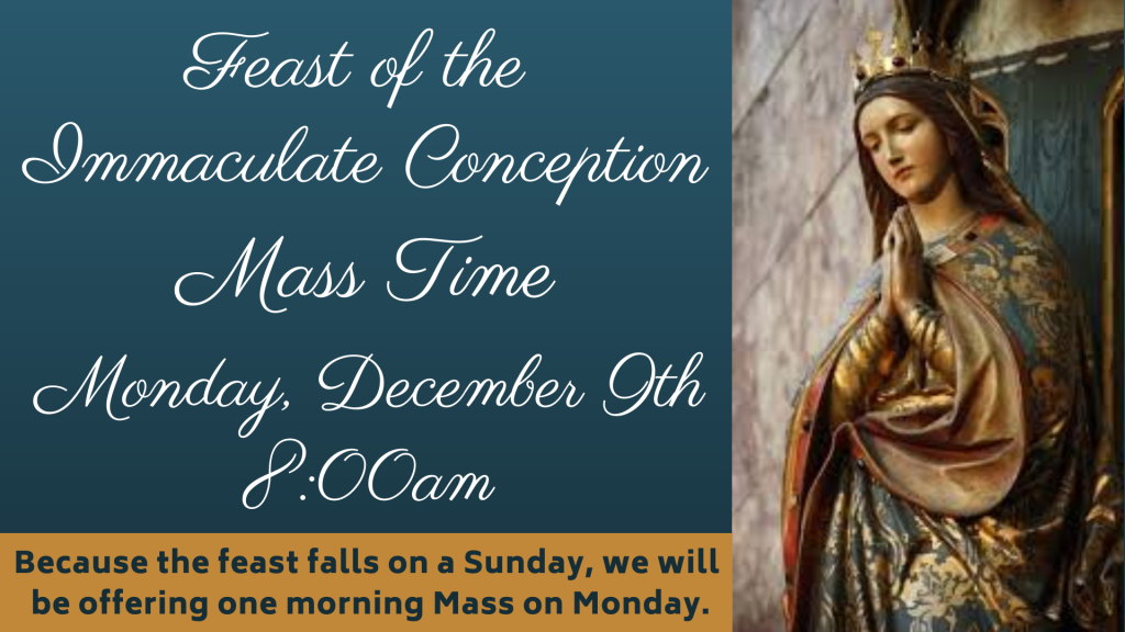 Feast of Immaculate Conception St. Anthony on the Lake