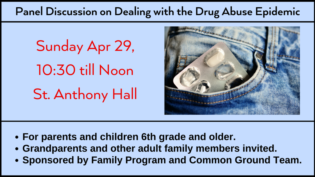 Panel Discussion on Dealing with the Drug Abuse Epidemic