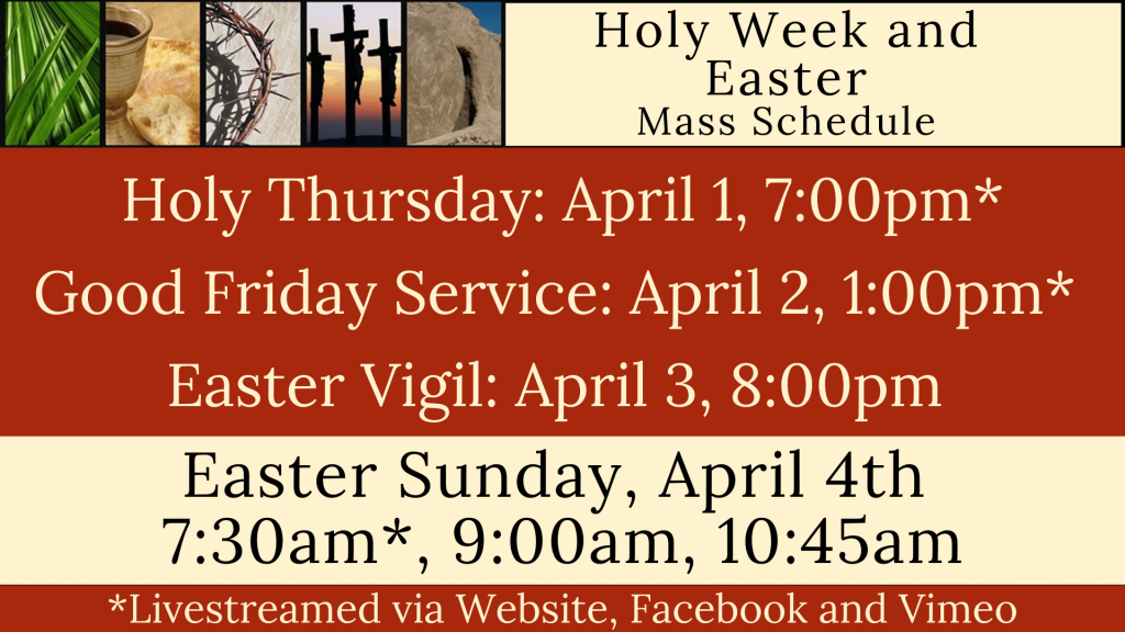 Holy Week and Easter at St. Anthony on the Lake