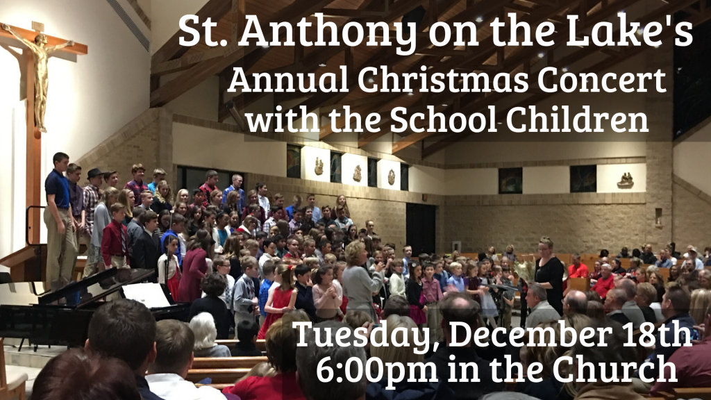 School Christmas Concert St. Anthony on the Lake