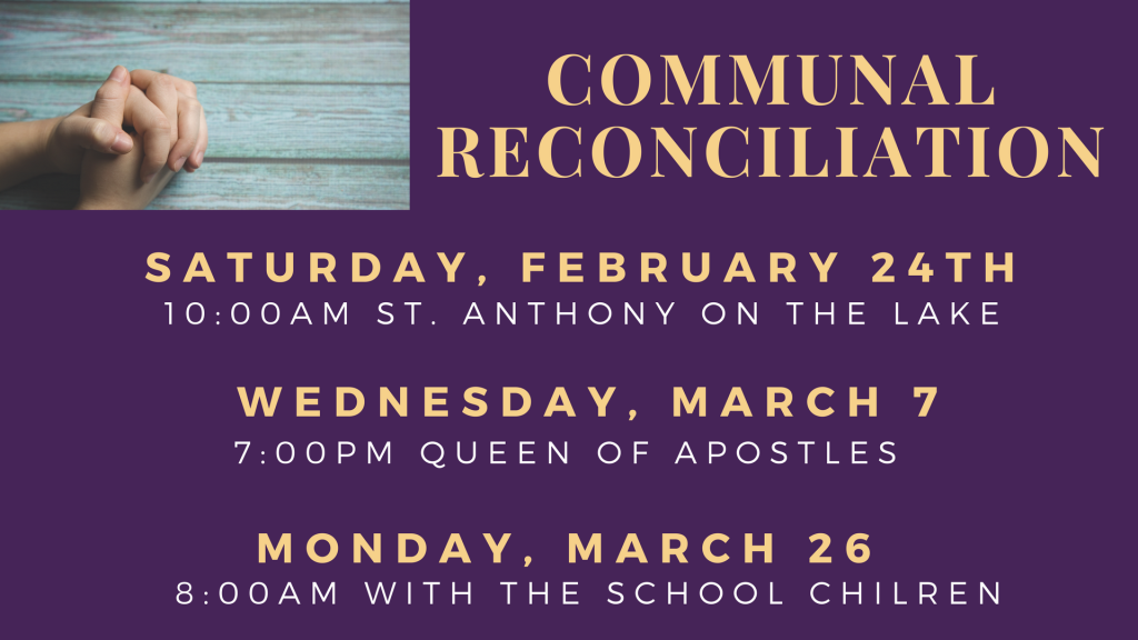 Communal Reconciliation at St. Anthony on the Lake