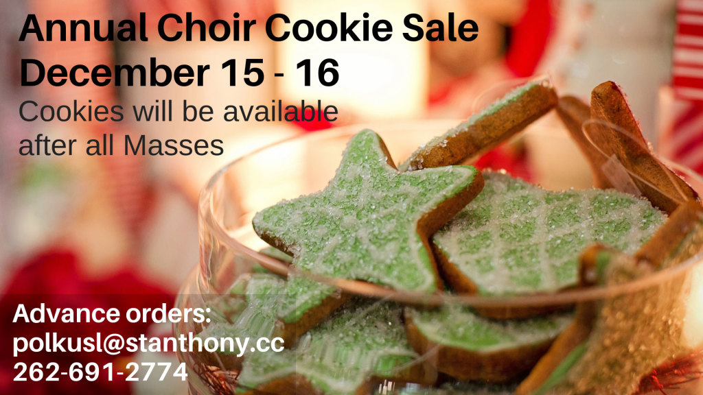 Choir Cookie Sale at St. Anthony on the Lake