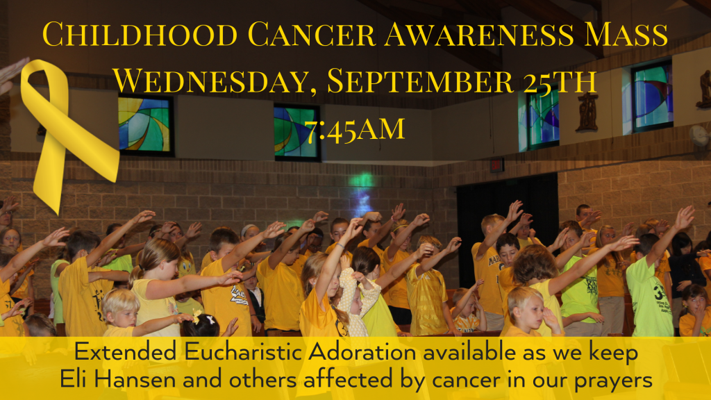 Childhood Cancer Awareness Mass St. Anthony on the Lake