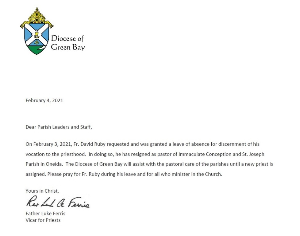 Diocese Letter