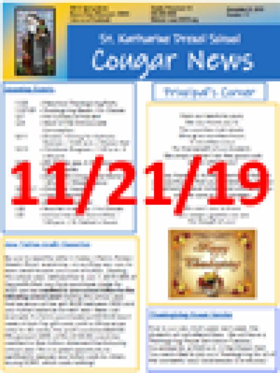 November 21, 2019 Newsletter