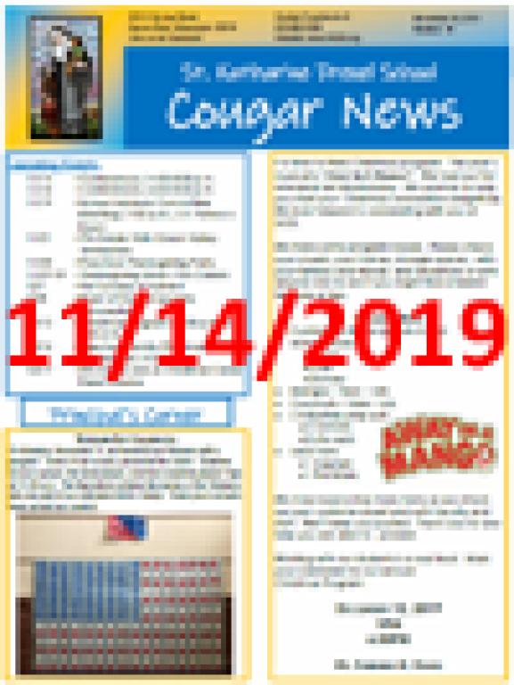 November 14, 2019 Newsletter