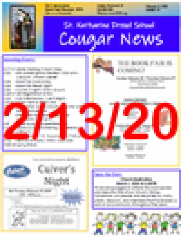 February 13, 2020 Newsletter