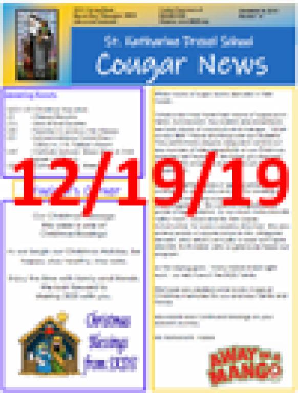 December 19, 2019 Newsletter