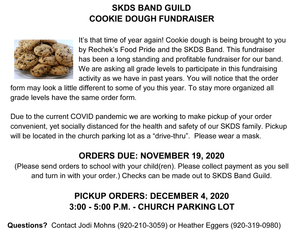 It's Cookie Dough Order Time