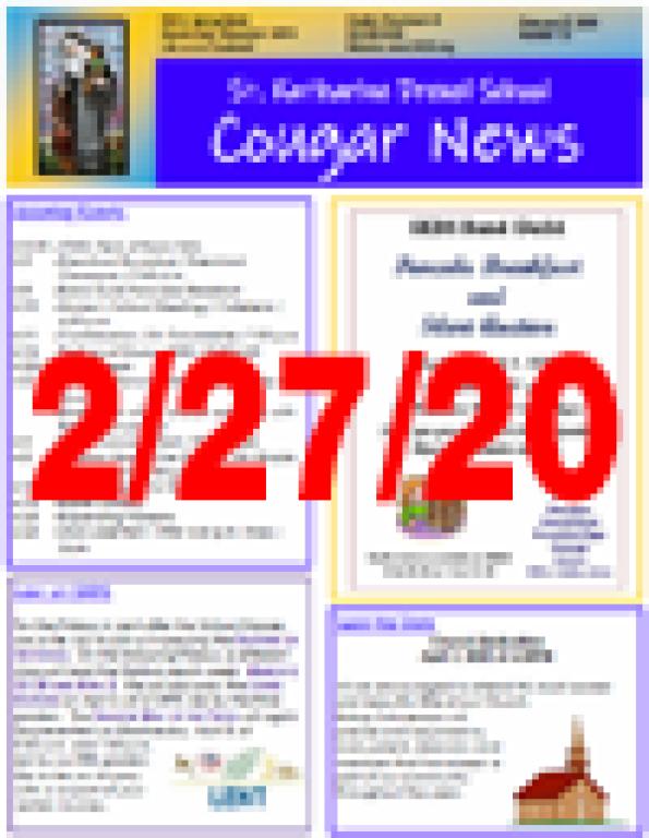 February 27, 2020 Newsletter