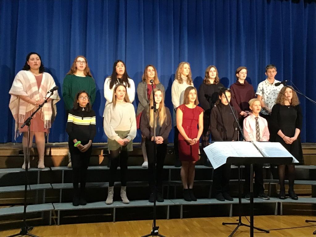 Chorus Performs for the Christmas Program