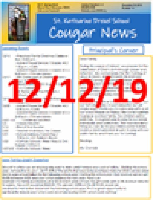December 12, 2019 Newsletter