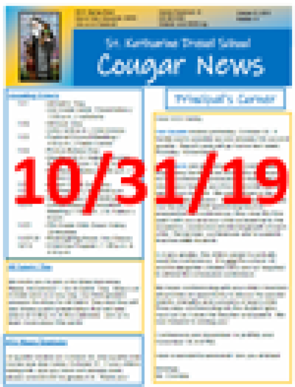 October 31, 2019 Newsletter