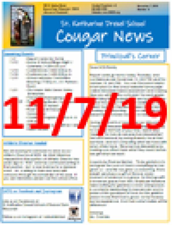 November 7, 2019 Newsletter