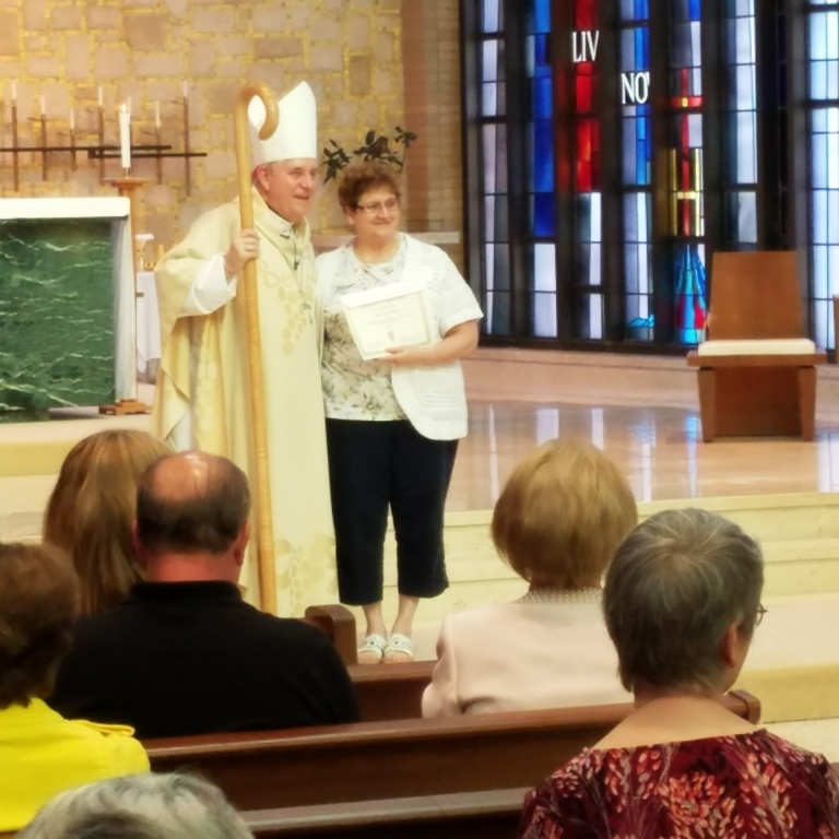Mrs. Meyer With The Archbishop