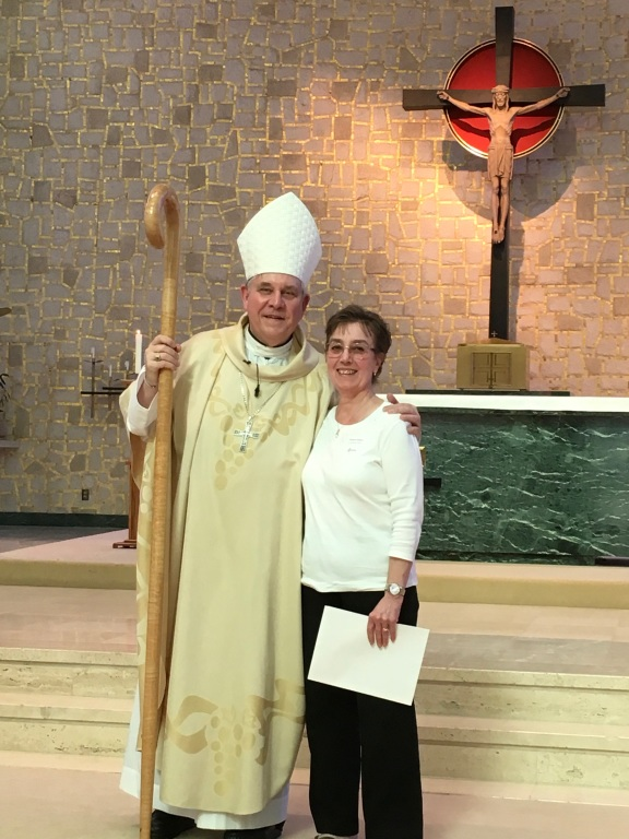 Mrs. Bedker With the Archbishop