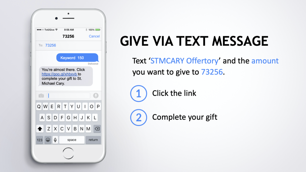 Text to give instructions