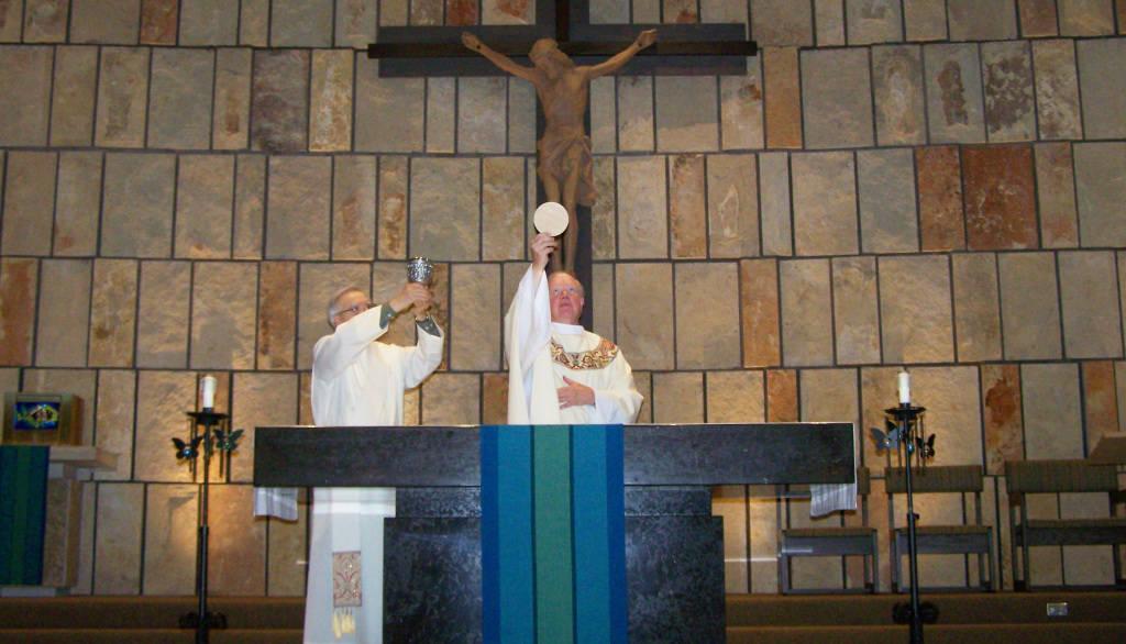 Mass at St Joseph Catholic Church, Wauwatosa WI