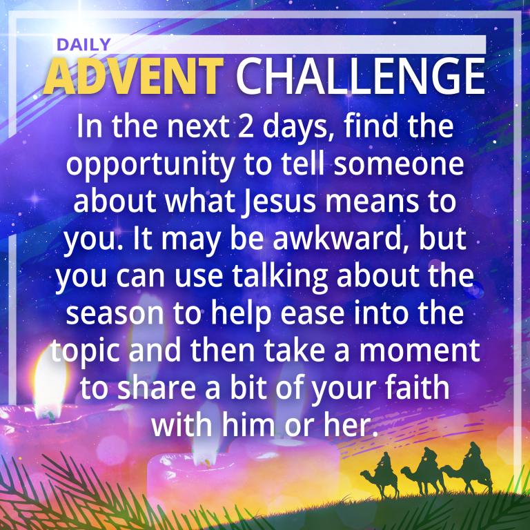 Dec. 10 Advent Challenge