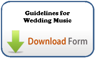 Guidelines for wedding music