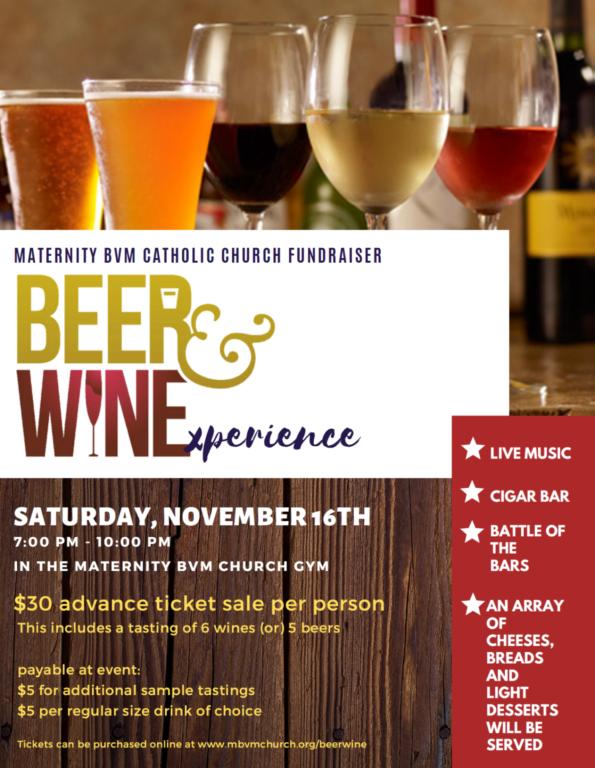 beer wine flyer