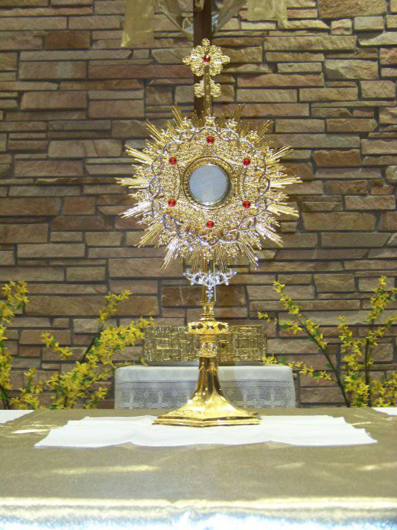 Monstrance at St. Joseph Hospital Chapel