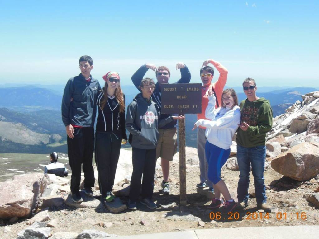 CYO students at Mt. Evans summit!