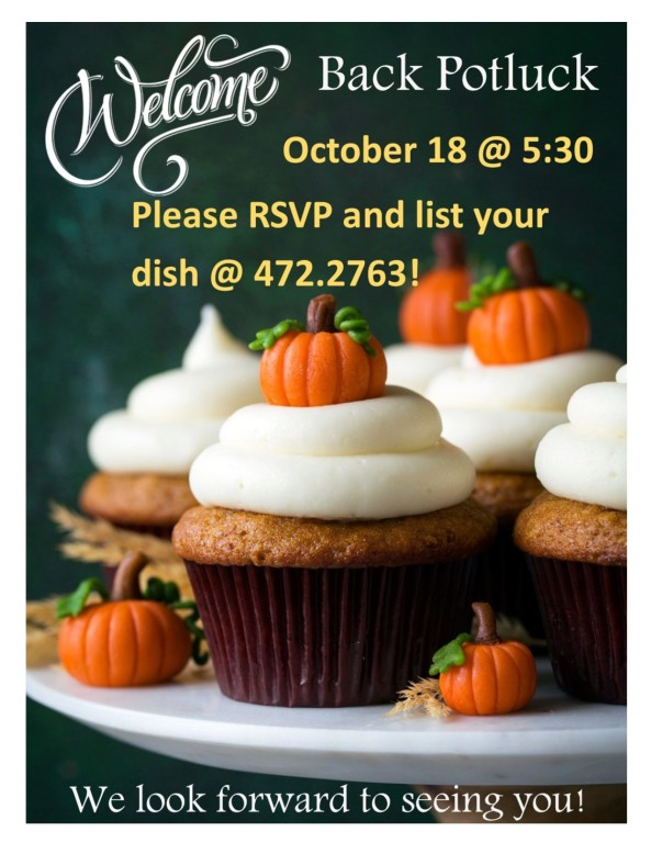 October Welcome Back Potluck