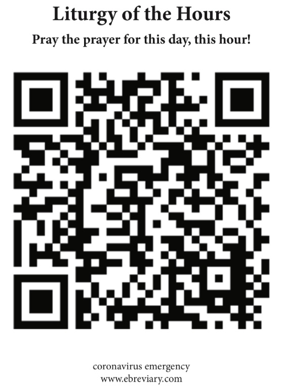 Scan of the link to Liturgy of the Hours