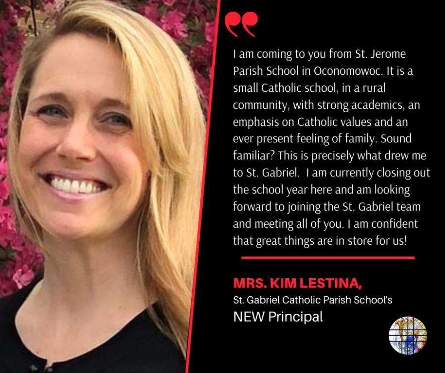 New Principal, Kim Lestina