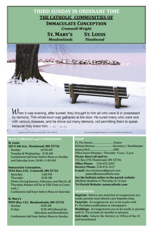 Jan 21st Bulletin