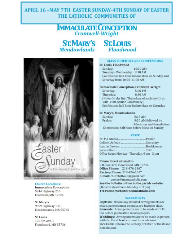 Bulletin April-May 7