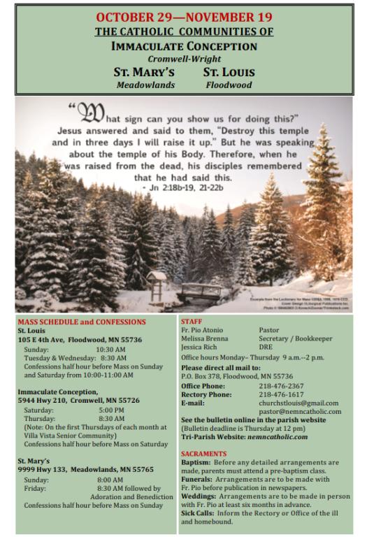 November Bulletin Cover