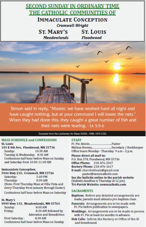January 13 Bulletin