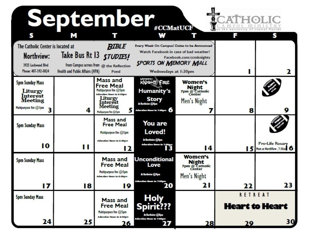 2017 September Calendar