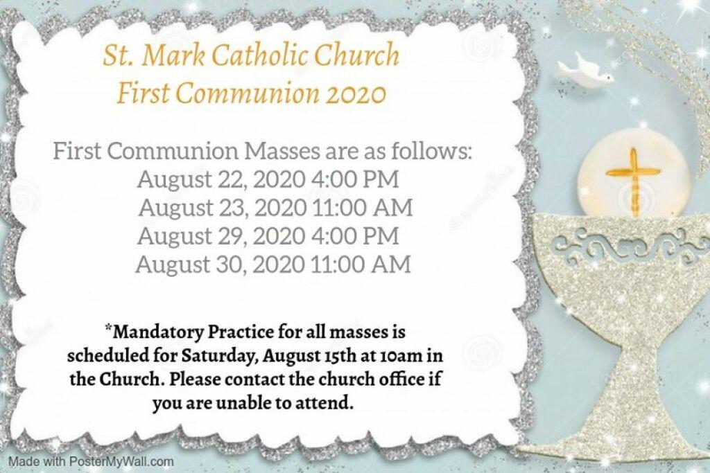 2020 Communion Schedule Image