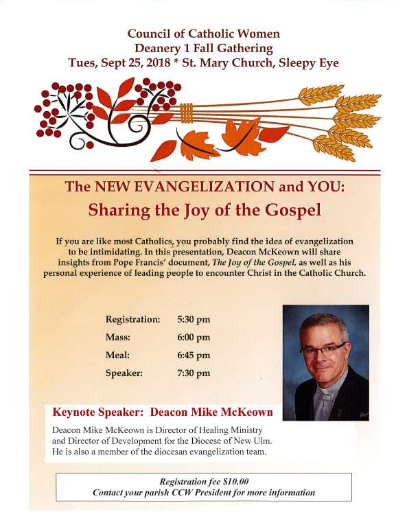 CCW Deanery I Fall Gathering