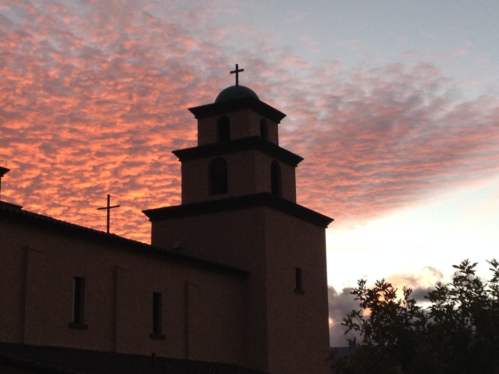 Sunset at Immaculate Conception Parish