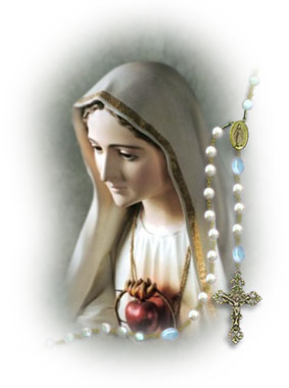 Image of Blessed Mary for rosary for peace