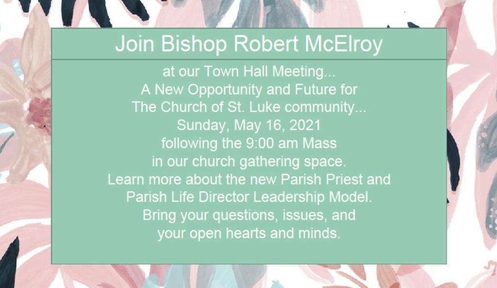 STL Town Hall w/Bishop McElroy May 16, 2021