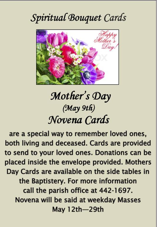 Mother's Day Novena Cards