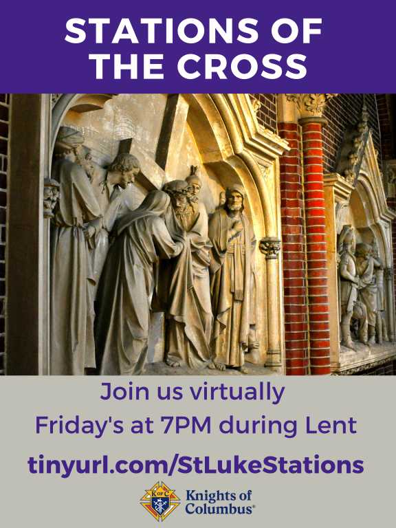 Stations of the Cross at The Church of St. Luke, Fridays, 7 PM