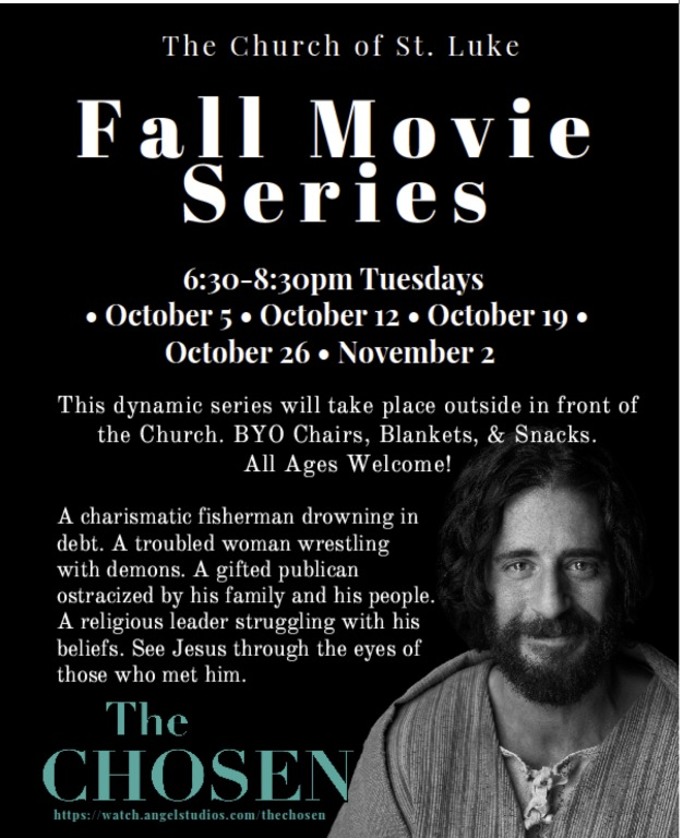 Fall Movies on Tuesdays in October, 6:30pm