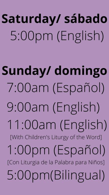 Sunday Liturgy Schedule