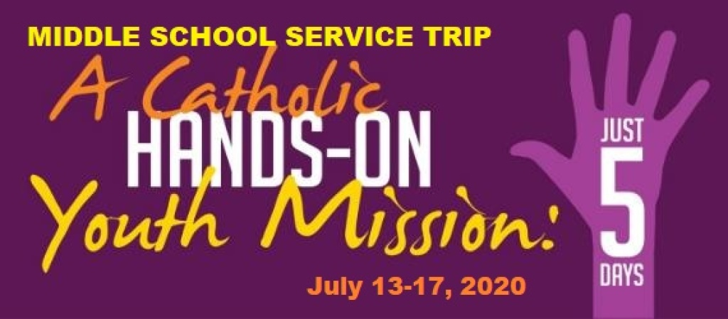 Logo for summer 2020 middle school service trip